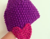 Hearts Hat - knitting pattern - pdf