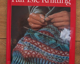 vintage 1980s/90s Alice Starmore knitting book Fair Isle knitting patterns ex-library