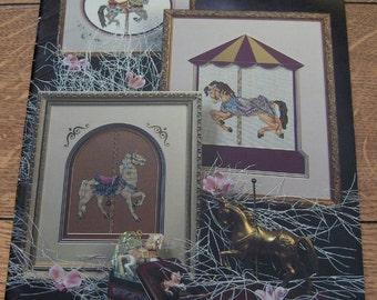 Vintage 1990 Cross Stitch patterns CAROUSEL DREAMS 10 designs