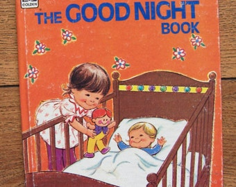 vintgae  golden tell-a-tale book THE GOODNIGHT BOOK  1974