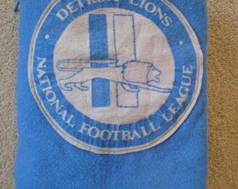Vintage Detroit Lions Football Pendleton Wool Afghan Lap Blanket Throw