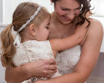 Flower girl hair accessory, Weddings, Flower girl gift, Flower girl headpiece, Bridal headband, Wedding headpiece, Wedding hair, Child hair