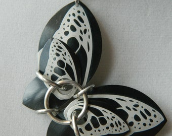 Butterfly Pendants with Black