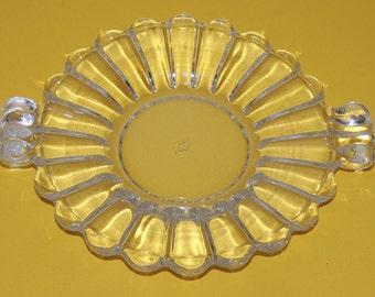 Heisey Crystolite Handled Plate
