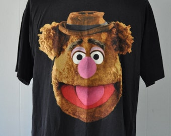 Vintage faded Tee Fozzie Muppets Tshirt Funny Soft n Thin 90s 80s XL