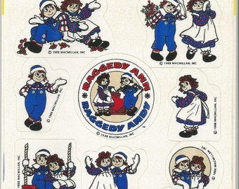 1980s Vintage Raggedy Ann and Andy Stickers