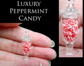 Luxury Christmas Peppermint Candy Jar - Artisan fully Handmade Miniature in 12th scale. From After Dark miniatures.