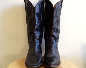 Leather Western Boot // Nine West // Black Leather // Size 6