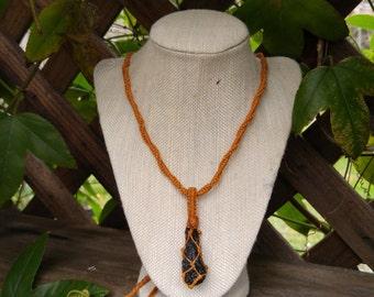 Tektite Crystal Necklace - Meteorite & Earth Mineral