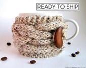 Cup Cozy, Coffee Cozy, Coffee Mug Cozy, Coffee Cup Sleeve, Coffee Cup Cozy, Coffee Sleeve, Tea Cozy, Chunky Knit, Mug Sweater, Mug Warmer