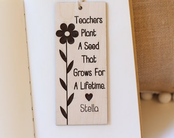 Personalized Bookmark Gift For Teacher Back to School First Day of School Gift Kindergarten Preschool Teachers Gift Custom (NVMHDAY0748)