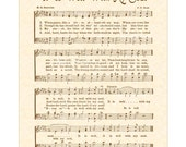 It Is WELL With My SOUL A.K.A. When Peace Like A River 8x10 Antique Hymn Art Print Natural Parchment Sepia Brown Vintage Verses Sheet Music