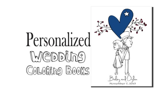 Kids Wedding Favor Personalized Wedding Coloring Book Kids