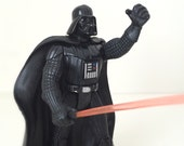 Star Wars Figure, Darth Vader with Red Lightsaber and Removable Cape - 1995 Star Wars Toy - 1990's Power of the Force Kenner Toy Line