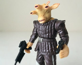 Star Wars Valentine Gift, Star Wars Action Figure, Ree-Yees with Blaster, 90s Toy, A New Hope, Mos Eisley Cantina Alien, Star Wars Trilogy