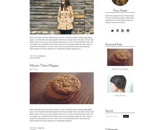 Blog Design WordPress Blog Theme - Blog Design - WordPress Template - Genesis Child Theme With Installation - Elle