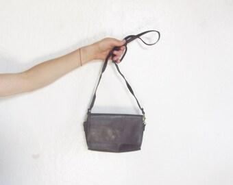 matte black leather crossbody purse . slim shoulder strap bag . large cell phone pocket .sale s a l e