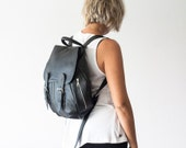 Leather backpack in black for women, rucksack, back bag,daypack,knapsack,everyday backpack,leather bag-Artemis backpack