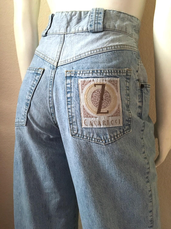 vintage damen 80er z cavaricci jeans hohe taille kegeliger. Black Bedroom Furniture Sets. Home Design Ideas