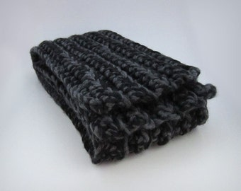 Chunky Gray Scarf - scarf for men