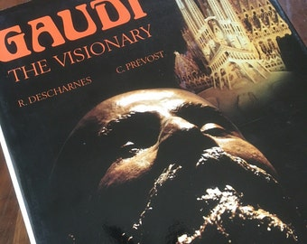 1982 Gaudi the Visionary by Descharnes and Prevost. Preface by Salvador Dali. HCB