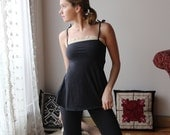 organic cotton camisole with cotton lace trim and cotton straps - HESTER - sleepwear and lingerie range - made to order