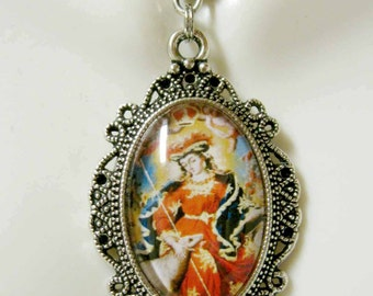 Mary, the shepherdess pendant and chain - AP04-185