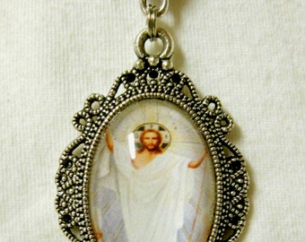 Ascension of Christ pendant with chain - AP04-224