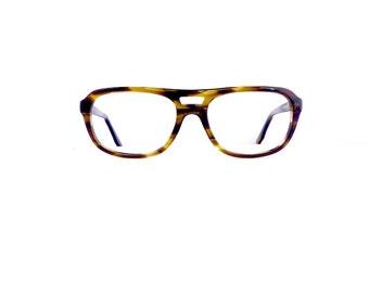 60s 70s Aviator Univis Eyeglasses Frames Unisex Vintage 1960's 1970's Tortoiseshell Frames Made in USA #M449 DIVINE