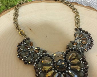 Beautiful Beaded Bib Necklace