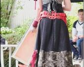 SALE - Leather Pocket Belt - Steampunk Leather Pouch - Red Leather - Two Pocket Belt - Sexy Hip Pouch - Burning Man - Playa Wear - One Size