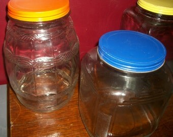 Large Glass Kitchen Jars Cookies Treats