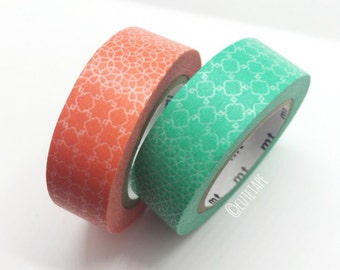 Japanese circle patterns Pretty Washi Tape set of 2