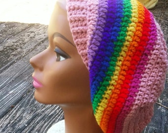 SALE rainbow dreadlock hippie hat