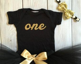 Baby Girls Black Tutu Outfit, 1st Birthday Dresses for Little Girls