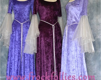 Bridesmaid Dress,Medieval Bridesmaid Dress,Elvish Dress,Robe Medievale,Pre-Raphaelite Dress,Pagan Gown,Hand Fasting Gown,Medieval Gown,Megan
