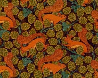 antique french art nouveau wallpaper design squirrel and hazel tree illustration digital download