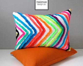 Colorful Outdoor Pillow Cover, Decorative Moroccan Tribal Throw Pillow Case, Bohemian Cushion Cover, Modern Sunbrella, Retro Boucherouite