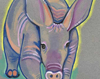 POSTER SIZED Aardvark Watercolor Painting Print, Artist-Signed