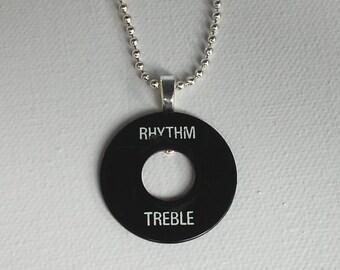 Rhythm Treble Pendant - Unique Gibson Switchplate Necklace