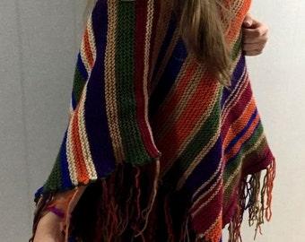 Christmas Gifts, Poncho, Crochet Poncho, Knit Poncho, Ponchos, Wool Poncho, Womens Poncho, By Aykelila