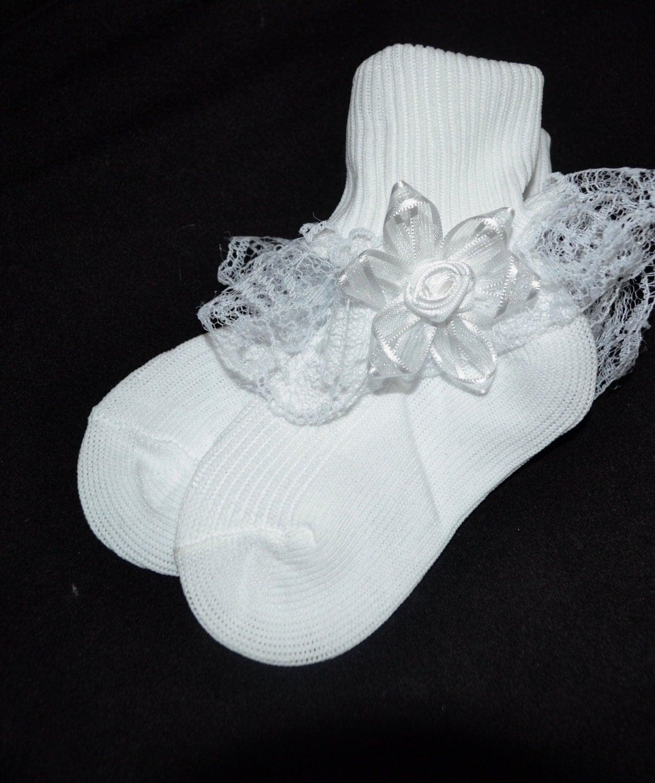 Baby socks White ruffled socks ruffled white socks baby Ruffled Socks
