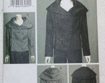 """Marcy Tilton Wearable Art  Vogue Sewing Pattern v8600  Loose Fitting Jacket with Detachable Hood  (EE) 14-16-18-20 bust 36""""-42"""""""