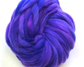 Super bulky handspun yarn, 52 yards and 3.2 ounces/91 grams, spun thick and thin in merino wool