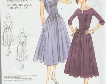 Reproduction Sewing Pattern / Vogue 1044 / 1950s Style Dress / Sizes 18 20 22 / Bust 40 to 44