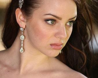 Wedding Bridal Bridesmaids Rhinestone Chandelier Dangle Earrings