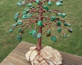 """RESERVED African Jade on Desert Rose Selenite, """"Authentic Self Consciousness"""" and Custom Birthstone Tree Amethyst Turquoise on Quartz"""