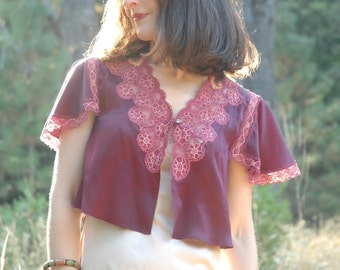 Silk Shrug... Light Layer... Soft and Silky... Ultra Saturated Purples
