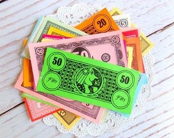 Vintage Play Money Pack / Mini Ephemera Pack / 25 Pieces
