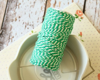 Emerald Green Cotton Bakers Twine 20m